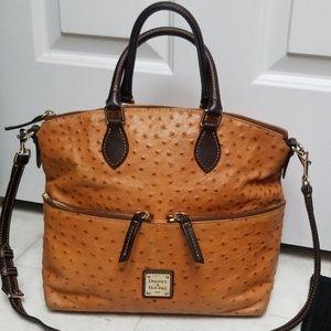 Stunning DOONEY & BOURKE ostrich leather bag